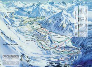 Une carte de pistes de ski de fond