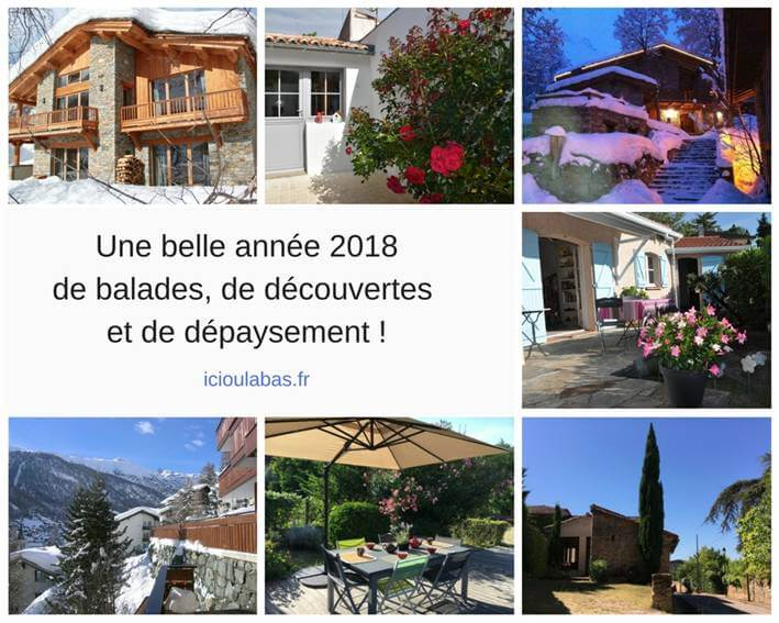A beautiful 2018 year of walks, discoveries and change of scenery