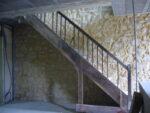 Un escalier de bois ancien