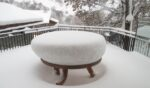A table under the snow