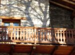 A wooden balcony