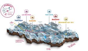 Une carte des stations de ski