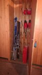 Skis in a closet