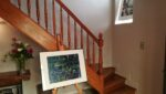 A painting, a staircase
