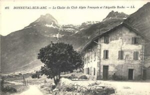 An old chalet, a mountain