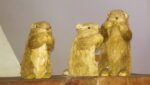Marmots made of straw