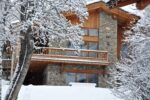 A chalet under the snow