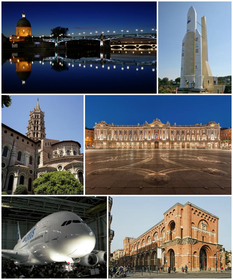 Le pont Saint-Pierre, Ariane 5, Saint-Sernin, le Capitole, un Airbus A380, le musée des Augustins.