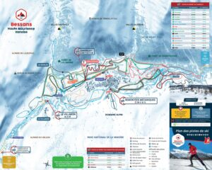 A map of cross-country ski trails